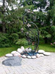 Садовый фонарик из металла