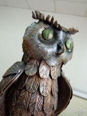 Садовая фигура в форме совы